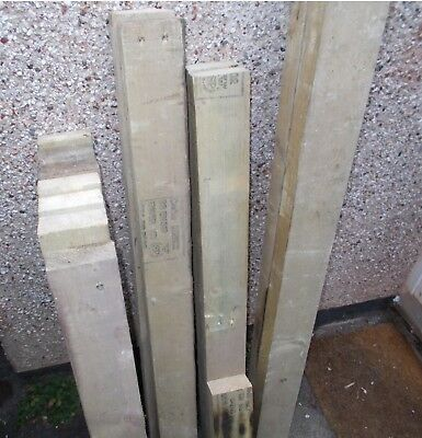 """Treated Timber 4""""x2"""" various lengths, Ungraded – USED"""