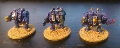 Epic 40k Armageddon Space Marine Dreadnoughts x3 (Pro Painted)