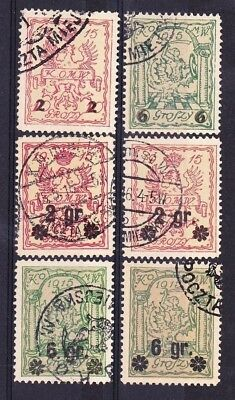 POLAND GERMANY 1915 occupation Warsaw local post stamps !