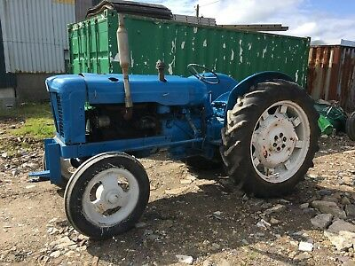 Fordson Major Tractor blue 1952 approx