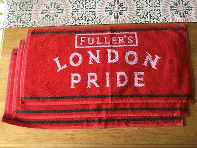 Fuller's London Pride NOS Signature Red Bar Towel Lot Of (3)