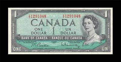 "1954 BANK OF CANADA QEII $1 **Beattie & Rasminsky** ""V/Z"" (( GEM UNC ))"