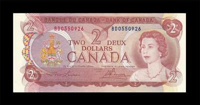 "1974 BANK OF CANADA QEII $2 ""Lawson & Bouey"" (( GEM UNC ))"