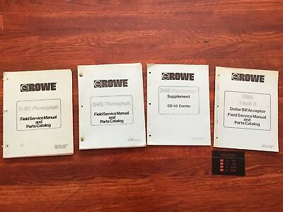 LOT of ROWE MANUALS - R-91, R-92, R-92 SUPP, PBA 1 and 5