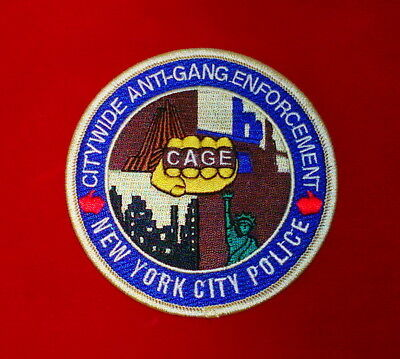 "New York City Police Citywide Anti Gang Enforcement Patch ""C.A.G.E."""