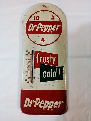 Dr Pepper - Frosty Cold Thermometer - Red Green Panels - 50's to 60's