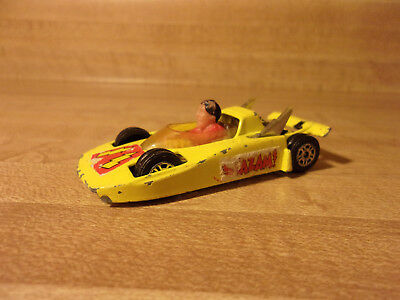 VINTAGE Corgi Juniors Shazam Car 1979 Great Britain DC Comics - Yellow Race Car