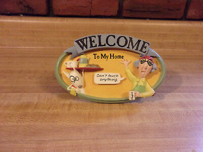 Maxine Artist John Wagner Welcome To My Home Plaque Signed