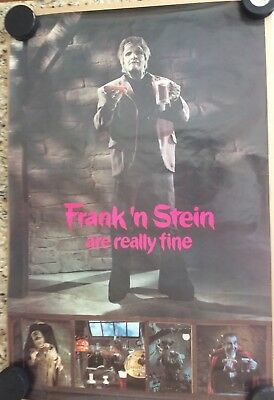 Vintage A&W Root Beer Hot Dog Poster Advertising FRANK N' STEIN ARE REALLY FINE