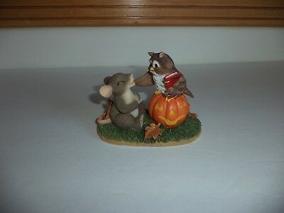Fitz And Floyd Charming Tails What A Hoot! Halloween Mouse Owl Jack-O-Lantern