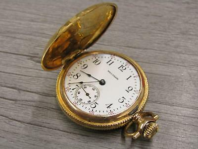 14K Yellow Gold Jewelry Antique Vintage Pocket Watch For Repair