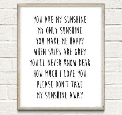 A4 ED SHEERAN Lyrics Typography Print Song Quote Gift Home UNFRAMED