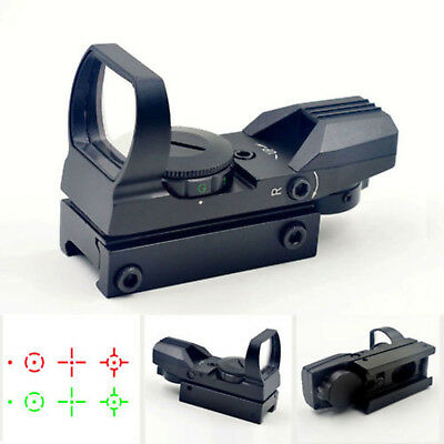 Red/Green Dot Laser Sight 4 Reflex Holographic For Tactical Hunting 20mm Rail