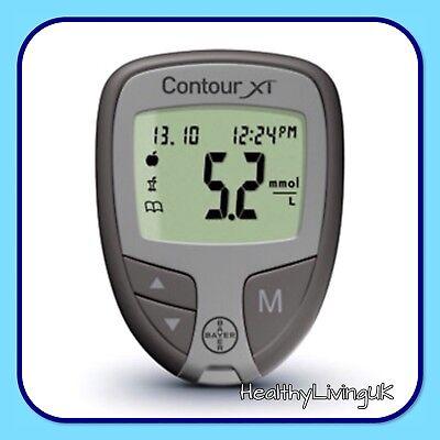 Contour XT Blood Glucose Meter - Bayer -For Diabetics -  Single Unit Meter Only