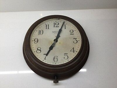 "Vintage Smith 8 Day Bakelite Wall Clock. Wind Up. 11"". Full Working Order."