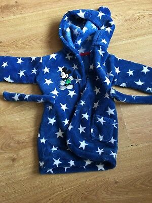 Baby boys mickey dressing gown aged 6-12 months