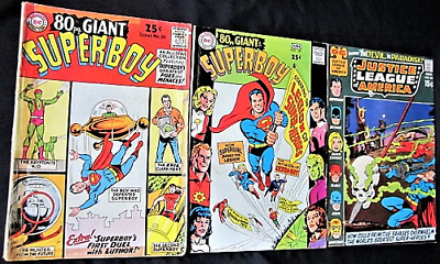 DC Comics Lot - Justice League of America, 2 Superboy 80 pg.Giant's- Silver Age