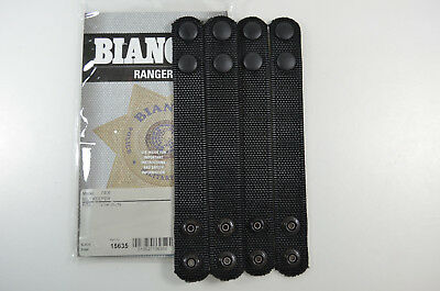 Bianchi Ranger 7406 Black Nylon Belt Keepers - Set of 4 - 15635
