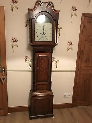 Victorian grandfather clock george burton uttoxeter gwo