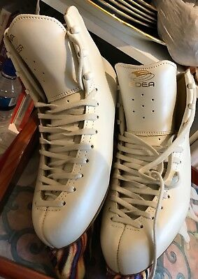 Edea Ice Skates Overture Size 245 (4) + Blade Covers, Bag, Boot Covers