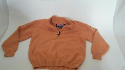 VINEYARD VINES Boy's Cotton Sweater Jacket Cotton Knit Orange Jumper EUC 4T