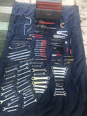 Vintage Craftsman Tool Box, And Huge Lot Of Misc Hand Tools