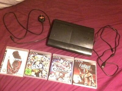 Sony PlayStation 3 Slimline 500GB, Ps3 Controller, Charging Cable and AC Cable