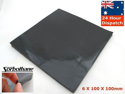 "Sorbothane 6mm Anti Vibration Isolation Pad Sheet 6*100*100mm 1/4*4*4"" inch"