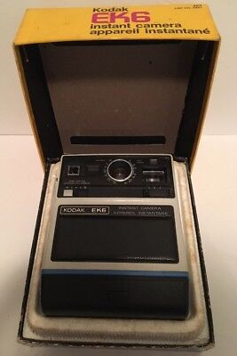 Vintage Kodak EK6 Instant Camera With Box