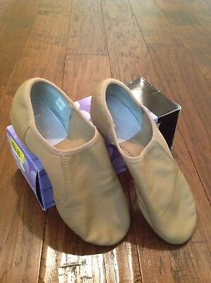 Dance Class Women's Leather Low Profile Jazz Shoes Size 10 Caramel Tan 8