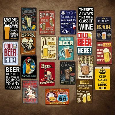 """WHOLESALE"" 1950's Beer Wine Tin Sign Bar Pub Cafe Wall Decor Metal Posters"