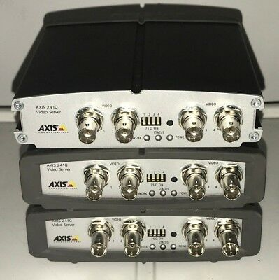LOT of 3 Axis 241Q Video Server 4-Channel CCTV Video IP Network Encoder