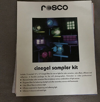"Rosco Cinegel Sampler Kit - 10"" x 12"" Kit"