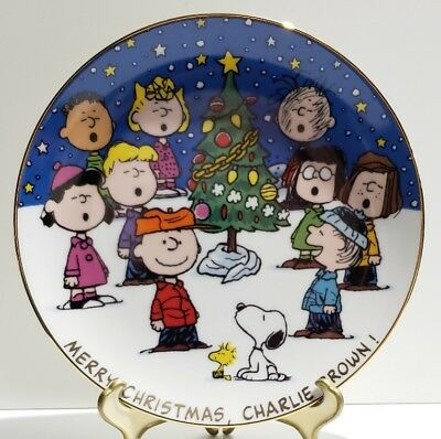 DANBURY MINT Merry Christmas, Charlie Brown Collector Plate