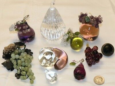 Vintage Crystal Fruits Lot In Good Condition