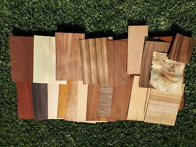 20 Pieces of Mixed Veneer Sheets, Marquetry, Woodworking, Rare Timber,