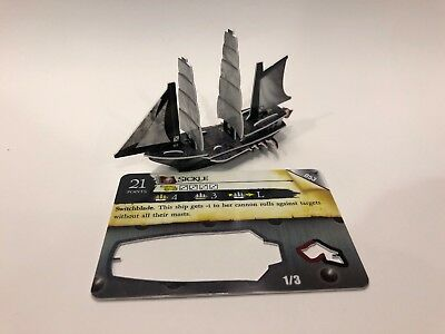 Sickle Switchblade Ship from WizKids Pirates: Fire & Steel