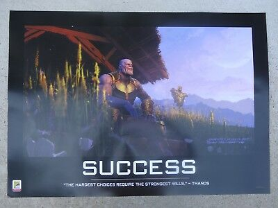 2018 SDCC Marvel THANOS Success Poster EXCLUSIVE Comic-Con Poster