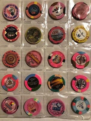 Lot Of 20 Casino Illegal Las Vegas Style Assorted Casino Chips 2.99 Ship Lot 21