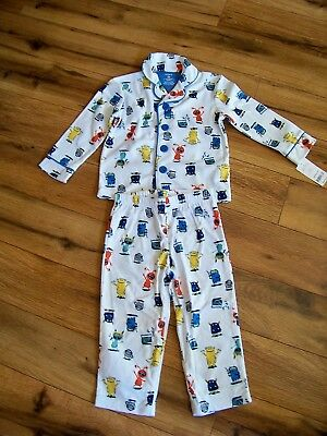 New With Tags Carters 2T Toddler Boys Two Piece Pajamas Pjs White With Monster