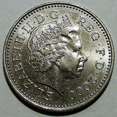 2000 Great Britain Elizabeth II 10 Pence KM#989 About Uncirculated No Reserve!