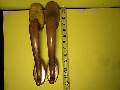 """Vintage Solid Brass Door Handles Pull Architectural 8 1/2"""" Long"""