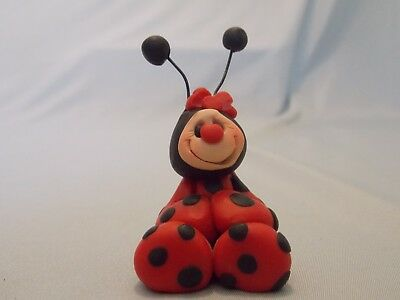 Lady Bug (Girl) Hand Made Clay So Cute! Mini Collectible