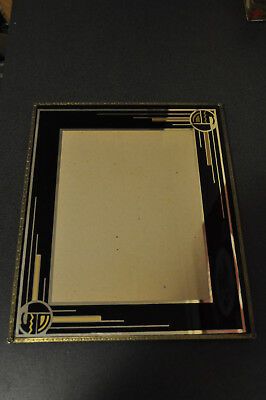 Vintage Art Deco Reverse Painted Glass Picture Frame 10 x 12 inch