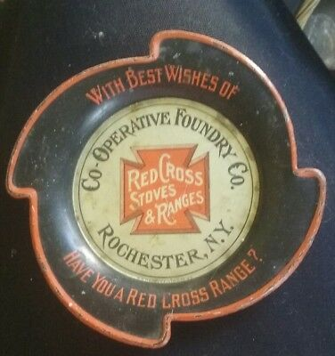 vintage tip tray Red Cross Stoves Rochester N.Y. 1890