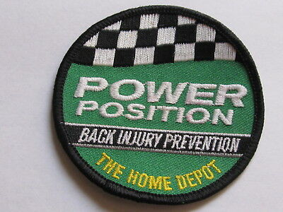 home depot collectibles back injury prevention power position patch