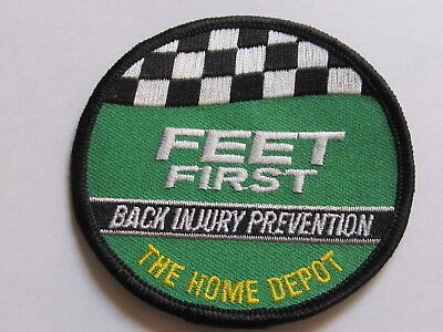 home depot collectibles back injury prevention feet first patch