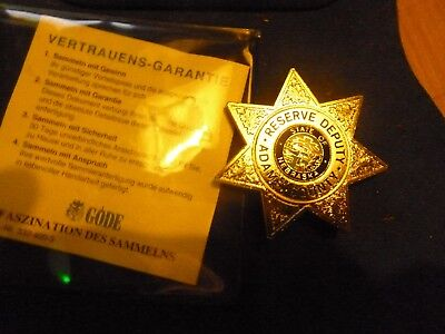 Historisches Police Badge, Reserve Deputy, Adams County, Nebraska, Göde