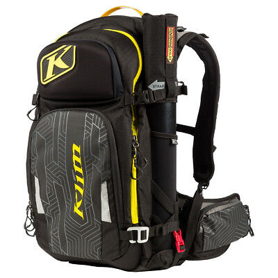 New 2019 KLIM KREW PAK - Black - Lime-  Snowmobile