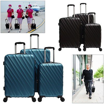 "28""24""20"" Luggage Travel Set Spinner Suitcase ABS Trolley Hardshell Lightweight"